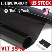 "Uncut Window Tint Roll 35% VLT 20"" 10ft feet Home Commercial Office Auto Film"