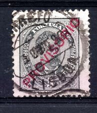 "Portugal (2071) 1892  King Luis  5r Black  overprinted ""Provisorio"" used Sg284"