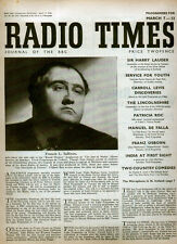 RADIO TIMES 7 MAR 1948 . THE JEW OF MALTA FRONT COVER . BBC OUTSIDE BROADCASTS