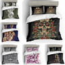 Duvet Quilt Cover Bedding Set Sheet Double Queen King Size Pillow Case Skeleton