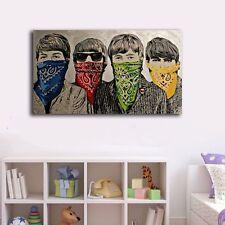 60×100×3cm Beatles Graffiti Canvas Print Framed Wall Art Decor Painting Gift