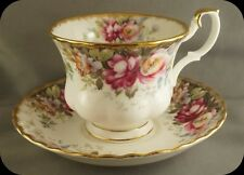 Royal Albert Autumn Roses Cup and saucer (Four Available)