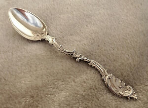 "French .950 silver teaspoon  5 5/8"" long inscribed bowl Nice"