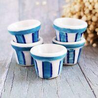 5x Ceramic Dot Spot Jar Pot Dollhouse Miniatures Fairy Garden Decor Wholesale