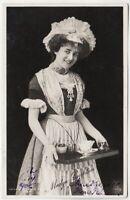 MADGE CRICHTON - Edwardian Actress - 1906 used real photo postcard
