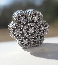 AUTHENTIC PANDORA CHARM CRYSTALLIZED FLORAL 791998CZ