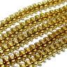 Hämatit Perlen Spacer 8mm gold eloxiert,1 Strang Edelstein #4317