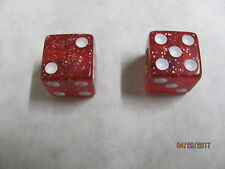 Dice, Red Glitter use on Schwinn Bicycles valve stem, all other bikes