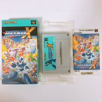 ROCKMAN MEGAMAN X Super Famicom SFC SNES Nintendo Japan games tested working