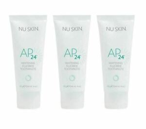 3 x Nu SKin AP-24 Whitening Fluoride Toothpaste 110g *AU stock *Exp10/2023 New