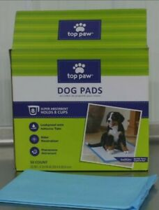 Top Paw Dog Training Pads 2X More Absorbent  Leakproof 23 x 24, 50 ct