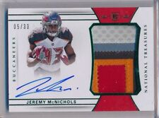 JEREMY McNICHOLS 2017 National Treasures Green 5 Clr Patch True AUTO /33 Bucs RC