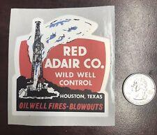 Red Adair Oil Well Blowouts Firefighting Hard Hat Sticker