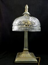 "Waterford Crystal Beaumont Table Desk Electric Lamp 14"" seahorse mark IRELAND"