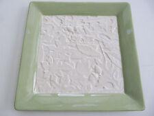 "NEW Hallmark Large Ceramic ""Leaves & Acorn"" Decorative Candle Plate 11"" x 11"""