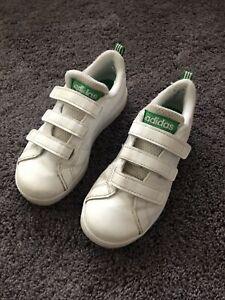 Adidas Boys Advantage Green Trainers Size 11.5k