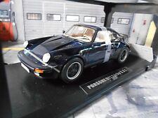 Porsche 911 930 turbo 3.3 litros coupé black negro norev marrones innenausta 1:18
