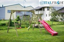 wooden swing slide Baby6 garden play centre outdoor kids climbing frame