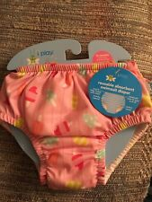 New I Play Reusable Absorbant Swimsuit Diaper Pink popscic 12 months 18-22 lbs