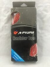 A-PLUMS PU Handle Bar Tape Handle-bar Tape for Road Bike Red