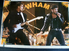 RARE WHAM GEORGE MICHAELS 1986 VINTAGE ORIGINAL MUSIC POSTER