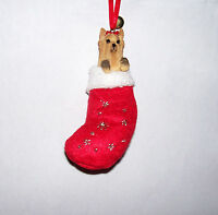 Yorkshire Terrier Stocking Dog Ornament Christmas