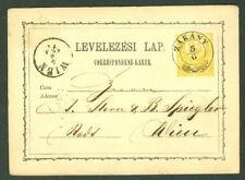 HUNGARY TOWN CANCEL on 1871 2kr POSTAL CARD - ZAKANY