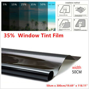 35% Car Window Tint Solar Film Explosion Proof Heat Insulation Membrane 50cm PET