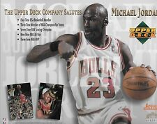 "LOT OF 2 DIFFERENT1994 UPPER DECK SALUTES MICHAEL JORDAN CARD ""LIMITED EDITIONS"""