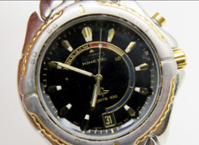 Vintage SEIKO KINETIC SPORTS 100 Watch SAPPHLEX Crystal 5M42-0B09 - Runs good!!