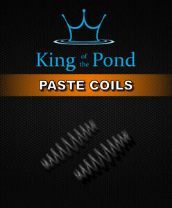 Paste coils / bait springs, matt black x20 large - barbel, chub, carp fishing