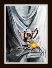 Georgian Pot & Lemon  : Original Oil Painting by Susan Ballantyne - Mortimer