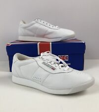 Womens Vtg REEBOK Classic White Leather Casual Tennis Shoes w/Box Sz 11 EUC