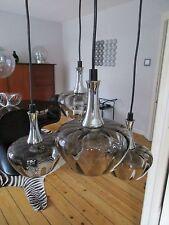 MIDCENTURY Kaskadenlampe-Rauchglas-selten!!!