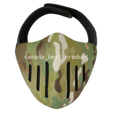 Tactical Airsoft Metal Mesh Breathable Protection Half Face Mask Multicam