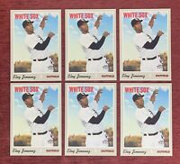 Lot of (6) 2019 Topps Heritage ELOY JIMENEZ Rookie Card #516 RC White Sox🔥