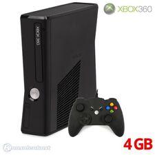 Microsoft Xbox 360 - Konsole Slim 4GB #matt-schwarz + Controller + Zub.