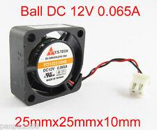 100pcs Y.S.TECH FD122510HB 25x25x10mm 12V 0.065A Double Ball DC Brushless Fan UK