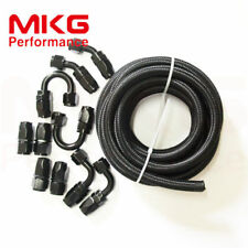 AN10 AN -10 Stainless Steel Nylon Braided Oil Fuel Line Hose End Fittings Kit BB