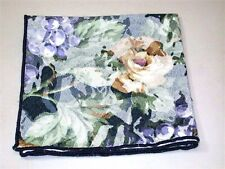 (4) Jacquard Floral Napkins ~ Navy Multi ~ 16 x 16