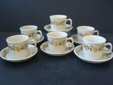 WEDGWOOD QUINCE 6 X CUPS AND SAUCERS