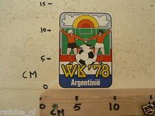 STICKER,DECAL ARGENTINIE 1978 WERELD KAMPIOENSCHAPPEN VOETBAL WK 78