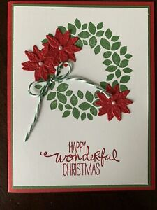 Stampin Up Poinsettia Petal Card Kit