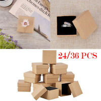 36Pcs Cardboard Jewelry Storage Boxes Case Gift Earring Ring Necklace Display