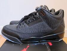 2011 Nike Air Jordan III 3 Retro Black Flip Cement Grey Cat sz 13