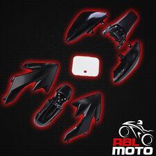 ABLMoto - Dirt Bike Pit Bike Mini Supermoto Verkleidung SET 110 125 ccm Schwarz