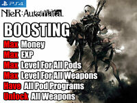 Nier: Automata PS4 Mod Max Money EXP Level Unlock all Weapons Pod  (Not A Game)