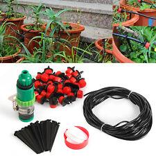 New Listing82 Feet Micro Drip Garden Irrigation System Plant Self Watering Garden Hose Kit