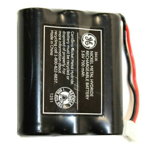 Genuine GE 36416 3.6V 700mAh Rechargeable Battery for Cordless Telephone System