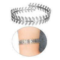 Roman Laurel Leaf Oberarm Schmuck Armband Strand Sommer Armband Silber